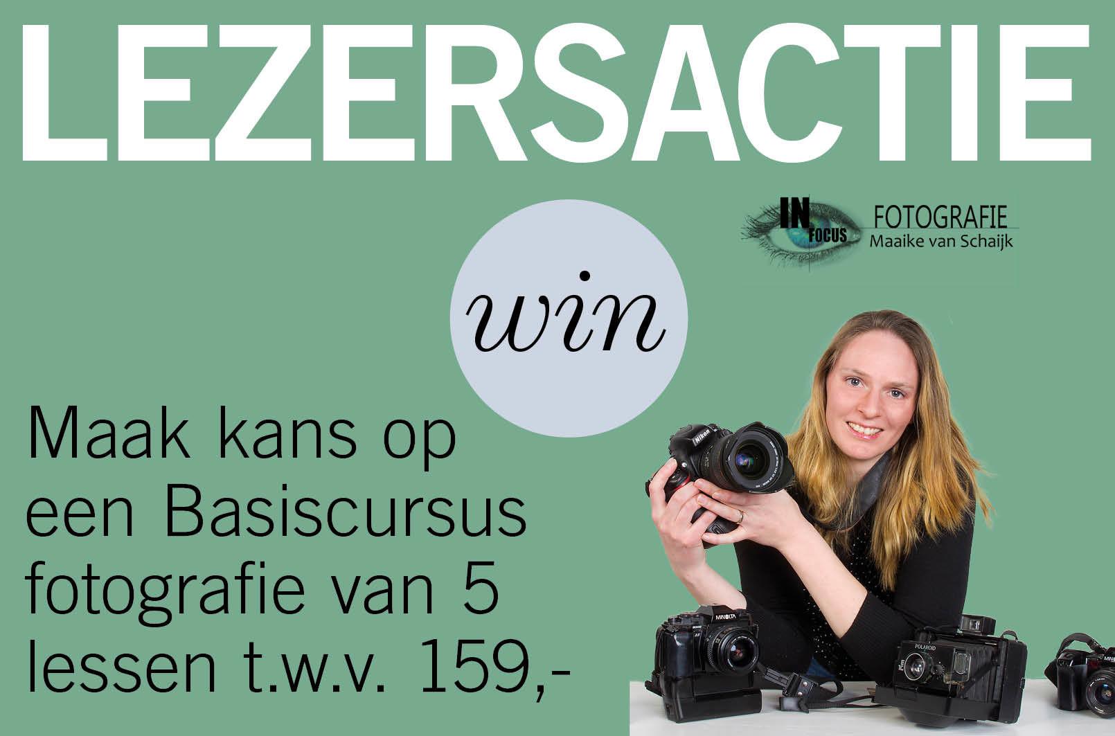 Maak kans op een Basiscursus fotografie van 5 lessen t.w.v. 159,- bij In Focus Fotografie - Maaike van Schaijk