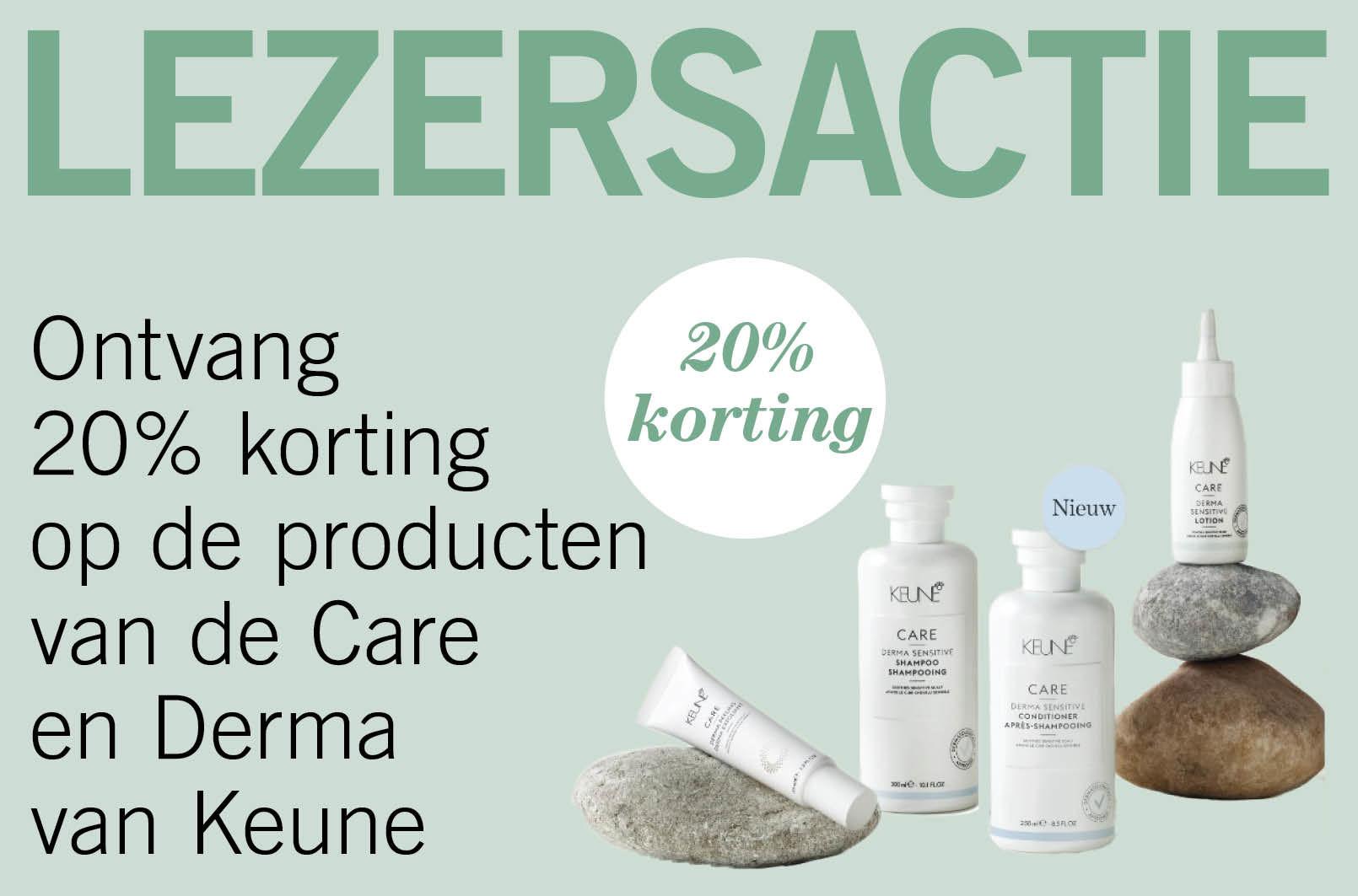 Ontvang 20% korting op de producten van de Care en Derma van Keune bij The Beauty Boutique