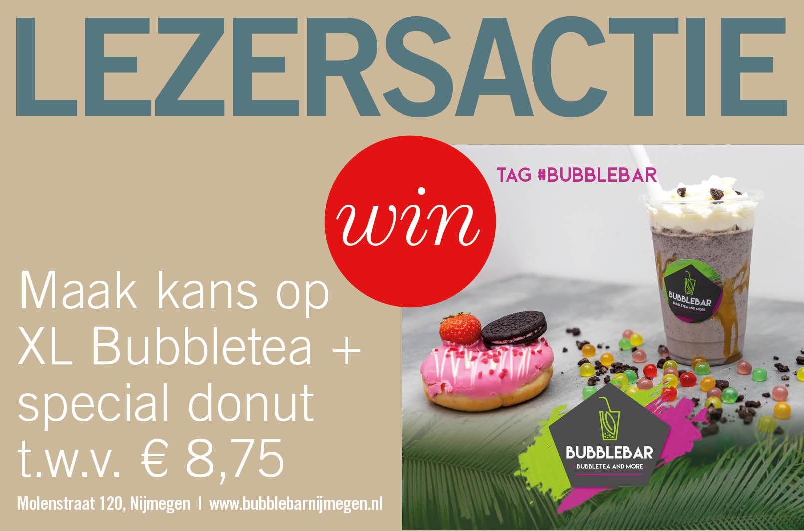 Maak kans op XL Bubbletea + special donut t.w.v. € 8,75