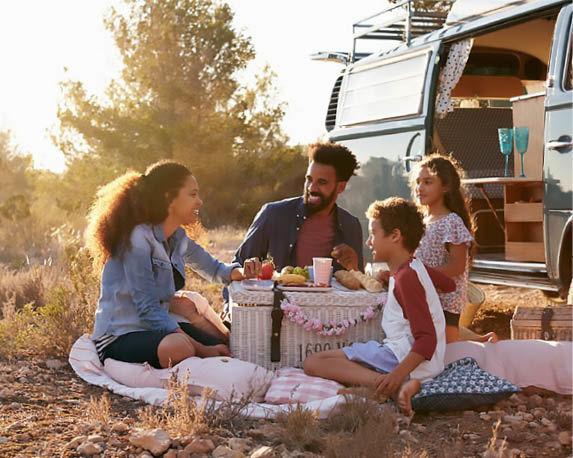 Ibiza-style kamperen